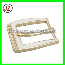 25MM high quality white enamel pin buckle, custom colorful crystal rhinestones fashion lady belt buckle