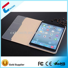 Hot genuine leather smart case for ipad air