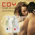 Coy en aplastar a usted de feromonas perfume 100ml real que contiene almizcle para el hombre y la mujer&