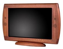 Mahogany Wood Swedx 26 inch Wide HDTV Monitor