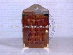 Lock Box, Wooden Keyholder, Key Hooks