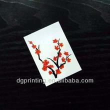beautiful spring flower temporary tattoo