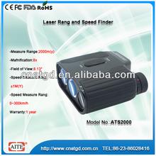 8*25 2000m mini laser rangefinder with speed finder