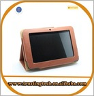 protective stand leather case cover for 7 inch tablet pc for All Winner A13 Q88 leather case