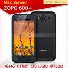 MTK6582 Quad Core Zopo Zp600+ 1GB/4GB 3G