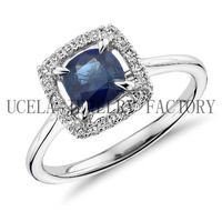 Hot sale charm fashion hand carved crystal ring guard