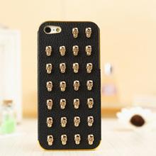 Wholesale custom 3d skull sticker cell phone case for iphone 5 2014