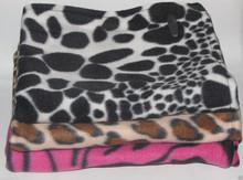 "new LOT OF 3 coral Fleece animal print receiving blanket throw 33""X29"" BABY gift set"
