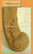 Embossed sofa legs,wooden sofa leg bun feet