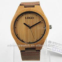 New design 100% natural bamboo wooden quartz watches