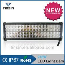 HOT!!! Wholesale car accesories 4 row 216w led work fog lamp 12v led search bar light for 4wd suv atv off raod truck wrangler