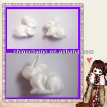 wedding decoration or christmas decor polystyrene artwork styrofoam rabbit shape factory price