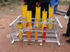 fireworks racks,aluminum mortar tubes racks,multi size tubes rack