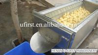 High efficiency brush roller potato washer and peeler machine