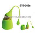 silicone saco de chá infuser conjunto de fruta em forma de silicone infusor de chá