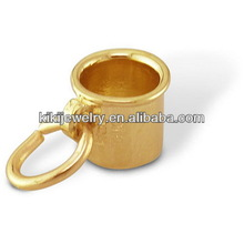 wholesale gold plated tea cup charms