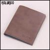 Fashion design brown leather best brand genuine leather men's wallet