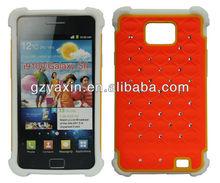 ultra slim case for samsung galaxy s2 i9100,diamond case for Samsung Galaxy S2 I9100 heart phone case