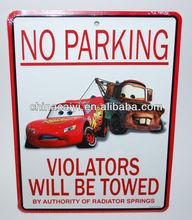 car ,van metal no parking sign ,raod metal sign