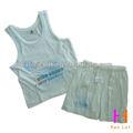 ropa de niño caliente vender 2 piezas conjunto de verano sin mangas de la ropa infantil