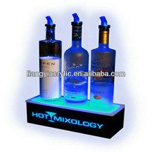 Advertising engraving wine custom bottle illuminated acrylic led display factory