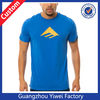 Latest Fashion Plain Blue Custom Logo Tshirt OEM