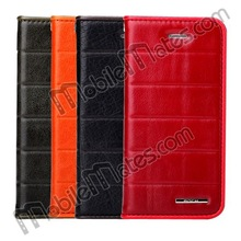 New for Apple iPhone Accessories, Stylish ROCK Side Flip Genuine Leather Case Wallet Cover for iPhone 5S 5