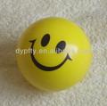 Espuma de la PU amarillo estrés smiley bolas de impresión para la promoción