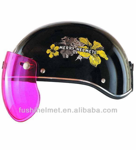 Curvy shell half face motorcycle helmet 905