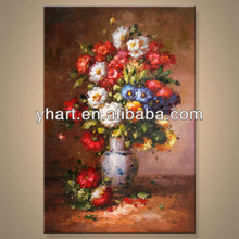 wholesale New Design Modern Handpainted canvas frameless painting of flower