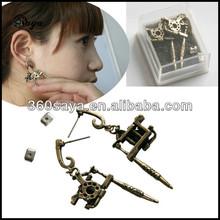 Wholesale Top Quality Mini Replica Tattoo Machine Earrings