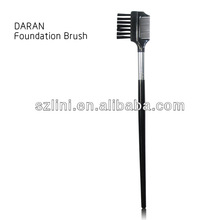 Nylon Black Wood Handle Eye brow Comb
