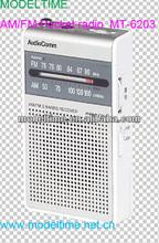 AM/FM Pocket radio with earphone Jack