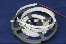 5000k flexible led strip ;input dc12v;white color; 7.2w/m power; non-waterproof led strip light 12v ;5050 smd