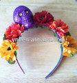 /de halloween día de los muertos/florecido brillo banda para la cabeza cráneo/fascinator