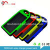 Dual Charging Ports portable power bank for Cell phone MP3 2 USB output 4 color / external solar mobile charger