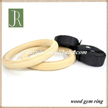 eco-friendly wooden gym rings with straps/gym rings