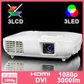mais recentes dispositivos eletrônicos 1080p 3000 3 lumens led 3 lcd de cinema projetores para venda