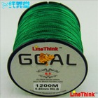 LineThink 1200M Green PE braid fishing line Spectra braided fishing line