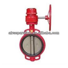 Gas HT Gear Type Gear Type PVC butterfly valve