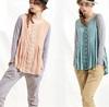 wholesale korean design ladies cotton knit blouse