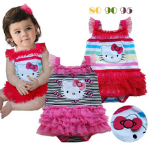 Girl's romper, Girl's tutu dress romper, Baby girl's kitty rompers, MR-424