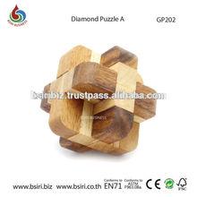 Wooden Cube Diamond Puzzle