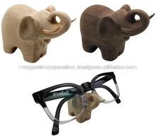 [Wood Art]Natural Wood Elephant Shape Glasses Holder (Beech / Walnut)