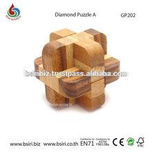 Wooden Diamond Puzzle Interlocked Puzzle Games