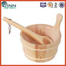 Sauna barrel and scoop 4L capacity sauna bucket