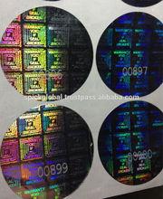 Warranty Void if Seal Broken Holographic 3D labels