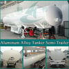 rail tanker HCH9400GRYLHJ62 3 Axles Aluminum Alloy Tanker Semi Trailer from china