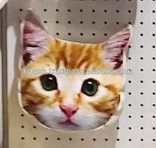 Cat Face Printed Velvet Pouch