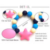 Soft 100% Food Grade FDA Approved BPA Free FDA Silicone Rubber Bracelet Teething Bead Necklaces Fashion